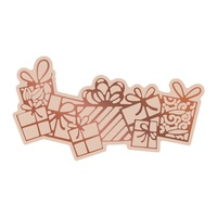 Cut and Foil Die Hotfoil Stamp Highland Christmas - Flurry of Presents (1pc)