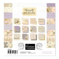 6x6 Couture Creations Butterfly Garden Collection Paper Pad