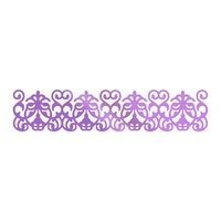 Couture Creations Hotfoil Stamp Butterfly Gardens Garden Border