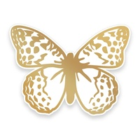 Cut and Foil Die Hotfoil Stamp Butterfly Garden Garden Butterfly