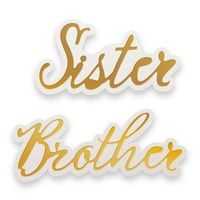 Cut and Foil Die Hotfoil Stamp Dazzlia Sister And Brother