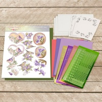 Couture Creations Dots & Do 3D Push Out Kit Vintage Purple Birds Decoupage Set