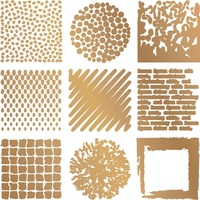 Couture Creations Hotfoil Stamp Gentleman's Crafter Texture Tiles 1 x 1