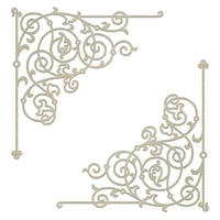 Chipboard Gentleman's Emporium Filigree Corner Set (2pc)
