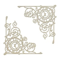 Chipboard Gentleman's Emporium Ticking Corner Set (2pc)