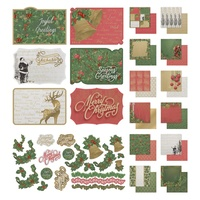 12x12 Couture Creations Naughty Or Nice Paper Pad Postcards and Sticker Sheet