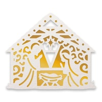 Couture Creations Hotfoil Stamp Naughty Or Nice Away In A Manger