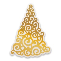 Couture Creations Hotfoil Stamp Naughty Or Nice Curling Christmas Tree