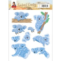 Couture Creations 3D Decoupage A4 Sheet Sunburnt Country Koala