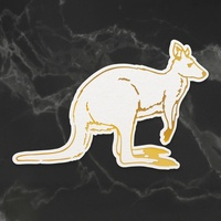 Cut and Foil Die Hotfoil Stamp Kangaroo
