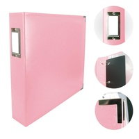 Couture Creations Classic Superior Leather 12x12 Album Baby Pink