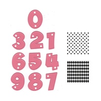 Marianne Design Collectables Party Numbers Dies with stamps COL1347