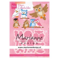 Marianne Design Collectables Elines Owl Dies COL1475