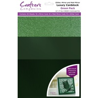 Crafter's Companion Luxury A4 Cardstock Green Pack 30pk