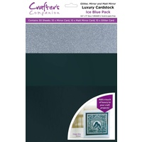 Crafter's Companion Luxury A4 Cardstock Ice Blue Pack 30pk