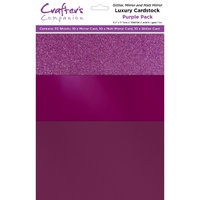 Crafter's Companion Luxury A4 Cardstock Purple Pack 30pk