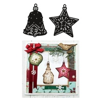 Marianne Design Craftables Dies Tiny Ornaments Stars And Bell CR1382