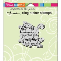 Stampendous Cling Rubber Stamps May Flowers