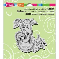 Stampendous Cling Rubber Stamps Sloth Swing