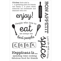 KaiserCraft Clear Stamps Bon Appetit CS267