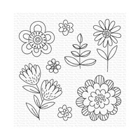 My Favourite Things Clear Stamps Fun Flowers CS487