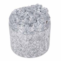 Cosmic Shimmer Gilding Flakes 200ml Silver Moon