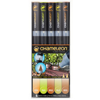 Chameleon Pens Earth Tones 5 Pen Marker Set