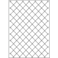 Crafts-Too Embossing Folder A4 Daisy Lattice CTA4019