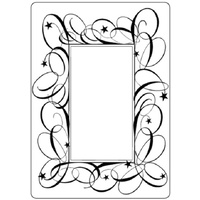 Crafts-Too Embossing Folder Swirl Frame 4.25x5.5