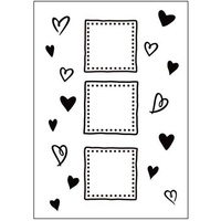 Crafts-Too Embossing Folder Hearts Frames 4.25x5.5
