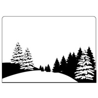 Crafts-Too Embossing Folder Pine Tree Scene 4.25x5.5