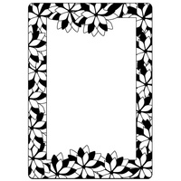 Crafts-Too Embossing Folder Poinsettia Frame 4.25x5.5