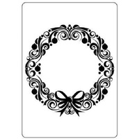 Crafts-Too Embossing Folder Christmas Wreath 4.25x5.5