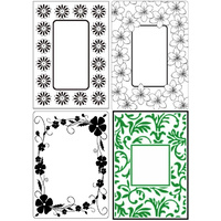Crafts-Too Embossing Folders Flowers Set 4pc 4.25x5.5