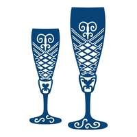 Tattered Lace Die - Champagne Glasses D269