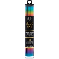 Deco Foil Specialty Transfer Sheets 6X12 5/Pkg Rainbow