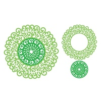 Cheery Lynn Designs Dies Florence Filigree Doily (Set of 2)