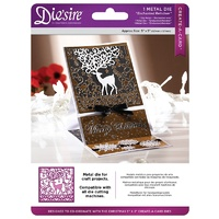 Crafter's Companion Die'sire Dies Create-A-Card 5x5 Christmas Collection Enchanted Reindeer
