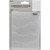 DARICE Embossing Folder Clouds 10.5cm x 14.5cm