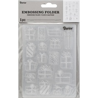 DARICE Embossing Folder Presents 10.5cm x 14.5cm
