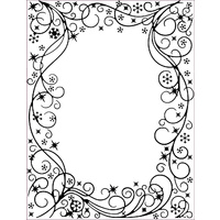 Sue Wilson Embossing Folder 5.75 x 7.5 Wintery Frame