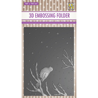 Nellie Snellen 3D Embossing Folder Bird on Branch EF3D016