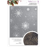 Crafter's Companion 3D Embossing Folder 5X7 Sparkling Snowflake