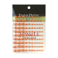 Eyelet Outlet Adhesive Pearls Multi-Size 100/Pkg Orange