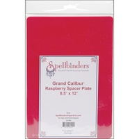 Spellbinders Grand Calibur Raspberry Spacer Plate 8.5 X 12 Inch GC008