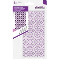 Gemini Embossing Folder 5.75 x 2.75 Geometric Floral