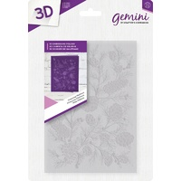 "Gemini 3D Embossing Folder 5""x7"" - Pinecone Plethora"