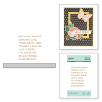 Spellbinders Glimmer Hot Foil Plate Everyday Sentiments II GLP-094