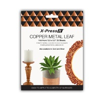 X-Press It Copper Metal Leaf 140mm x 140mm 25pc