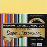 Core'dinations Value Pack Cardstock 12X12 100 Sheets Canvas Texture